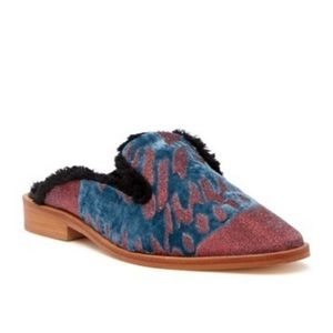 New Free People Butterfly Effects velvet mules